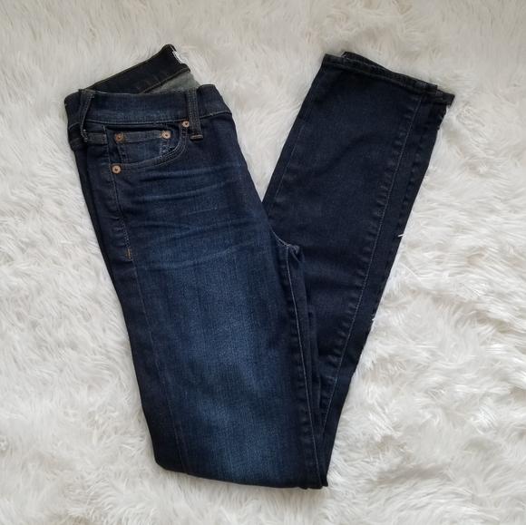 Madewell Alley Straight Dark Wash Jeans,25